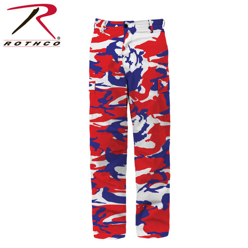 Rothco Color Camo Tactical BDU Pants - Red/White/Blue