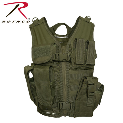 Rothco Kid's Tactical Cross Draw Vest - Olive Drab