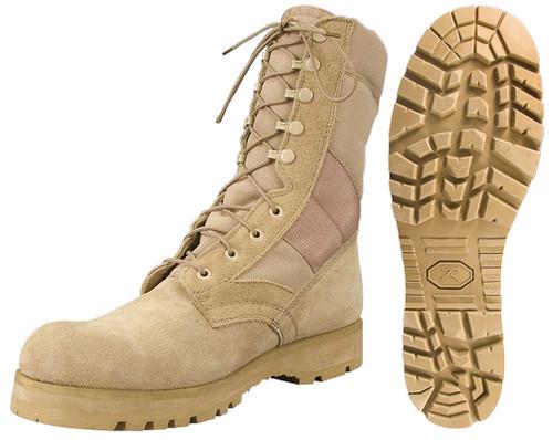 GI Type Sierra Lug Sole Boots - Desert Tan