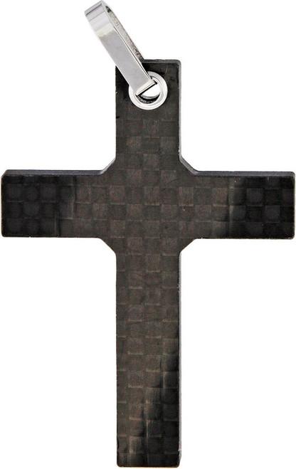 Carbon Fiber Cross Pendant