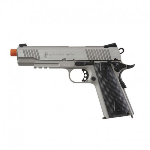 Elite Force 1911 Tactical Airsoft Gun Pistol Stainless Steel