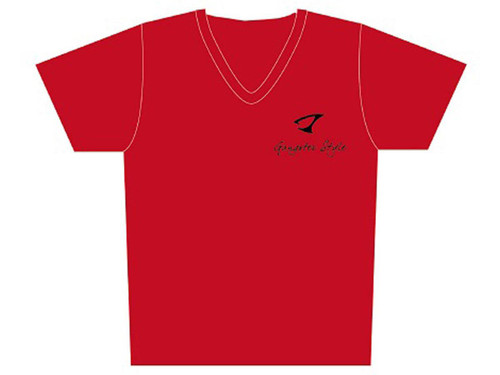 """Jigging Master """"Gangster Style"""" Short Sleeve Athletic Mesh Knit Shirt (Color: Red / 2X-Large)"""