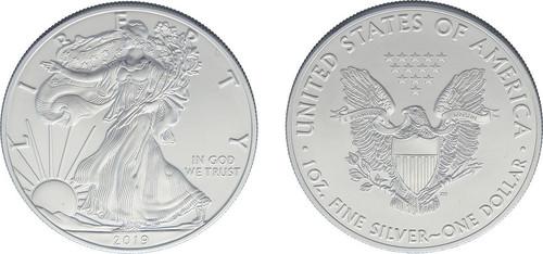 Silver Eagle Dollar 2019