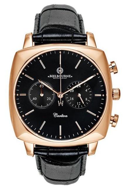 Melbourne Carlton Chronograph Rose Gold - Black
