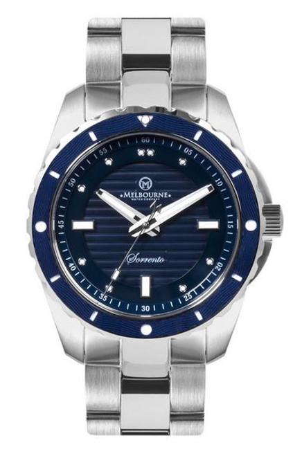 Melbourne Sorrento Dive Watch Steel Bracelet - Blue