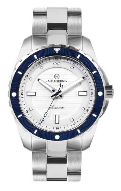 Melbourne Sorrento Dive Watch Steel Bracelet - White