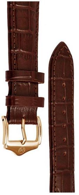 Melbourne Leather Brown Croc Grain Watch Strap - 22mm