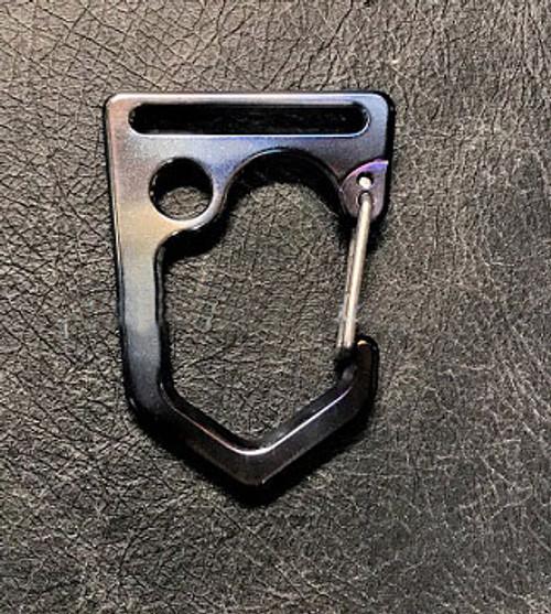 Tuff Writer D22 Uncus Titanium Carabiner - Flamed