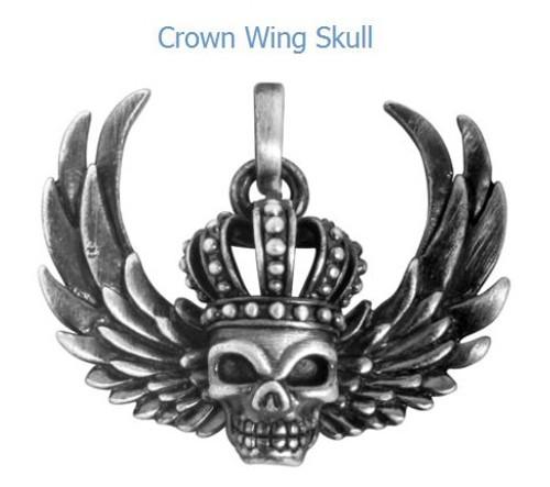 YTC Summit 2867 Crown Wing Skull Pendant