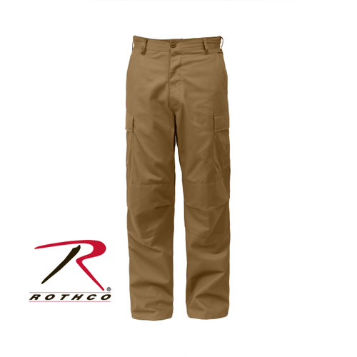 Rothco Relaxed Fit Zipper Fly BDU Pants - Coyote Brown