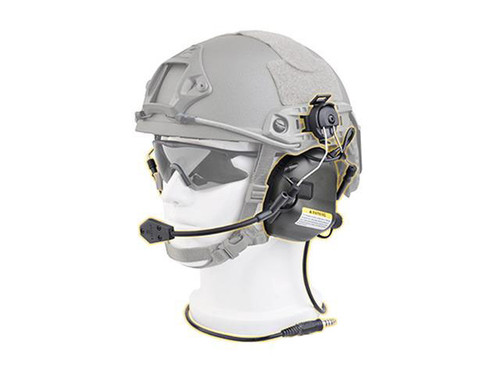 Earmor M32H MOD3 Tactical Communication Hearing Protector for FAST MT Helmets (Color: Black)