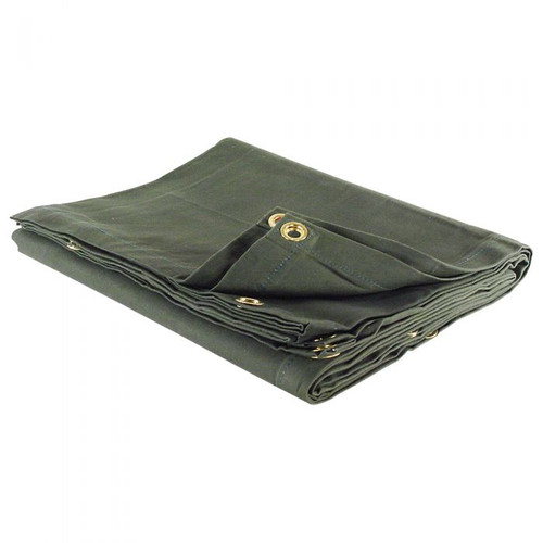 Canadian Armed Forces Heavy Duty Vinyl Tarp  18' X 24'  -Olive Drab