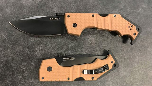 Cold Steel AK-47 Folder CTS XHP Coyote Tan 58TLAKVB