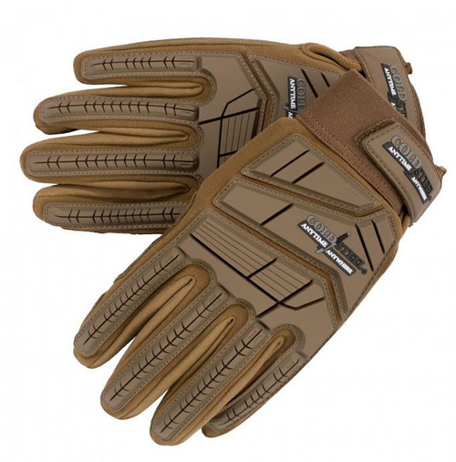 Cold Steel Tactical Battle Gloves - Coyote Brown