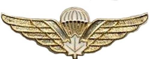 Pin - Canadian Airborne Regiment White Leaf