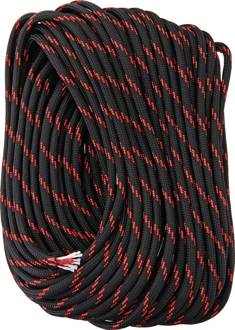 FireCord 50ft Black/Red Line