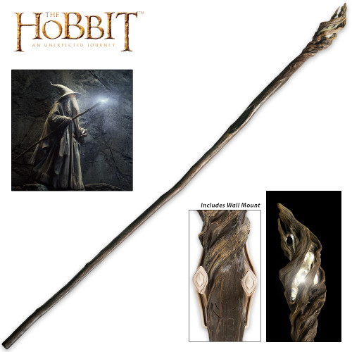 The Hobbit Illuminated Staff of The Wizard Gandalf the Grey With Wall Mount