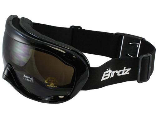 Birdz Eyewear Raptor Goggles (Color: Black Frame / Amber Lens)