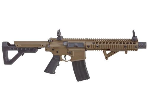 DPMS SBR Full Auto CO2 Powered Full Auto BB Air Rifle - Black/FDE