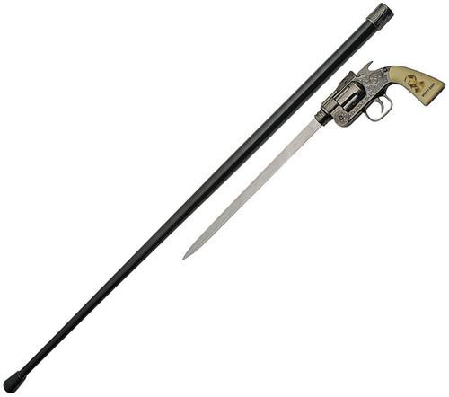 Wyatt Earp Revolver Sword Cane