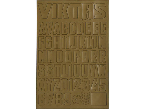 "Viktos ""Moralphabet"" Letter Patches (Color: Coyote)"