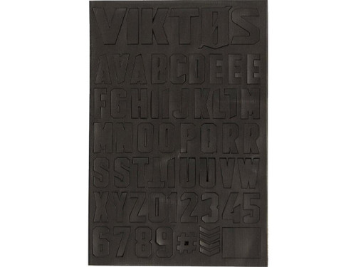 "Viktos ""Moralphabet"" Letter Patches (Color: Nightfall)"