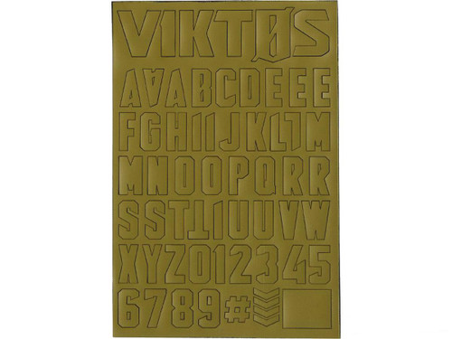 "Viktos ""Moralphabet"" Letter Patches (Color: Spartan)"