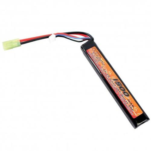 7.4V 1500 mAh 20C Li-Po Stick Airsoft Battery
