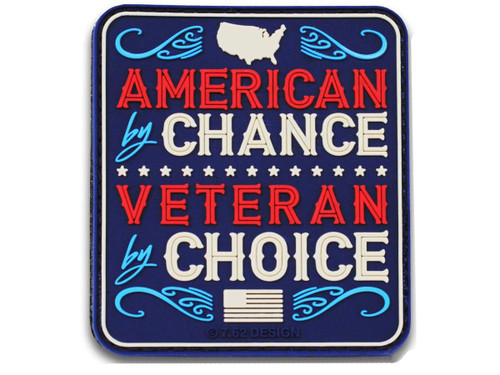 "7.62 Designs PVC ""Veteran by Choice"" Hook and Loop Morale Patch (Color: Full Color)"