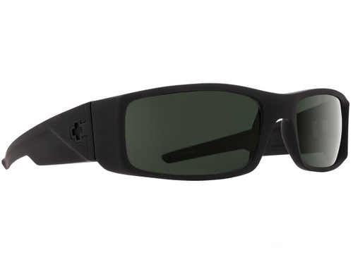 Spy Optic Hielo Sunglasses (Color: Matte Black Frame / HD Plus Gray Green Lens / Polarized)