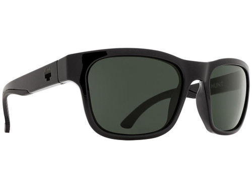 Spy Optic Hunt Sunglasses (Color: Black Frame / HD Plus Gray Green Lens / Polarized)