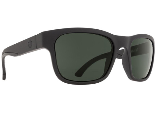 Spy Optic Hunt Sunglasses (Color: Matte Black Frame / HD Plus Gray Green Lens / Polarized)