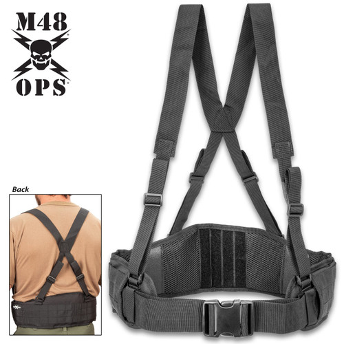 M48 Tactical Waist Belt w/Shoulder Straps