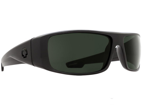 Spy Optic Logan Sunglasses (Model: Black Frame / ANSI RX / HD Plus Gray Green Lens)