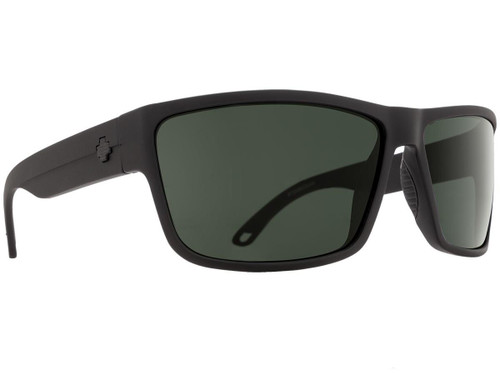Spy Optic Rocky Sunglasses (Color: Matte Black Frame / HD Plus Gray Green Lens / Polarized)