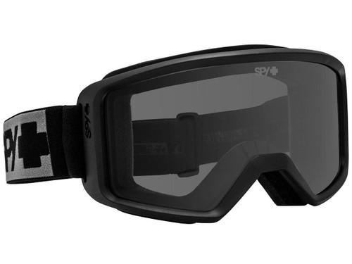 Spy Optic Shield ANSI Z87.1 Goggles (Color: Black Frame / Gray Lens)