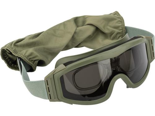 Valken V-TAC Tango Thermal Lens Goggles with Prescription Lens Insert(Color: Olive)