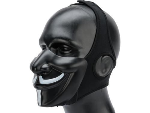 """Matrix """"Vendetta"""" Half Mask (Color: Black / White)"""