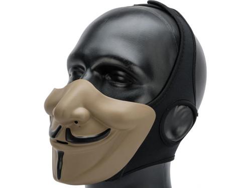 """Matrix """"Vendetta"""" Half Mask (Color: Tan / Black)"""
