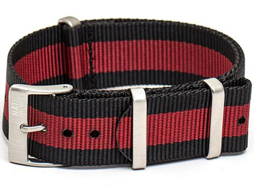 NATO Hardware EDC Watch Strap (Color: Limited Edition Black Red / 20mm)