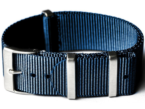 NATO Hardware EDC Watch Strap (Color: Navy Blue / 20mm)