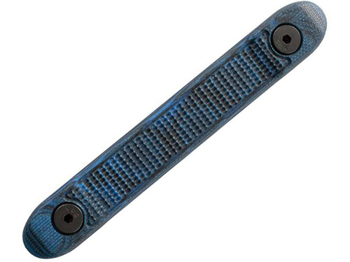 Hogue KeyMod G10 Rail Cover with Mini Piranha Texture (Color: Blue Lava)