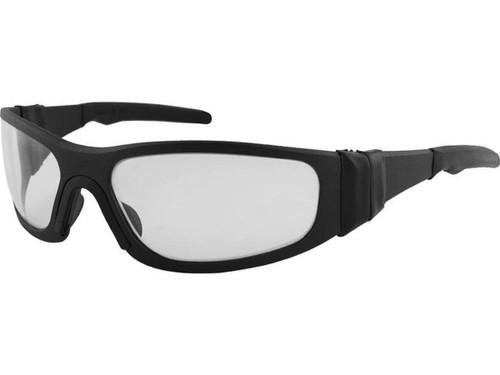 "Liquid Eyewear ""T-Flex"" CNC Machined One Piece Aluminum Sunglasses (Color: Matte Black w/ Hellfire LTD UV 17/84 Lens)"