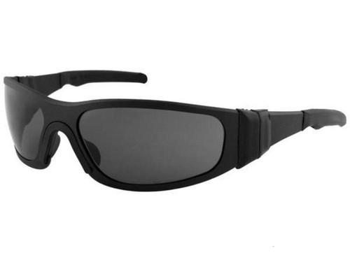 "Liquid Eyewear ""T-Flex"" CNC Machined One Piece Aluminum Sunglasses (Color: Matte Black w/ Smoke Polarized)"
