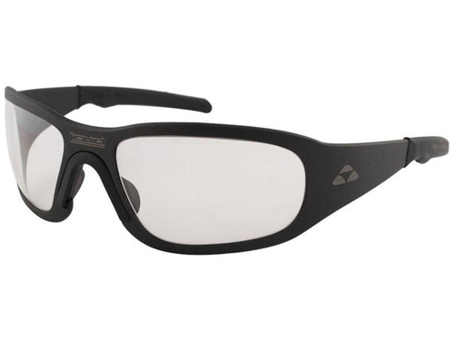 "Liquid Eyewear ""Titan"" CNC Machined One Piece Aluminum Sunglasses (Color: Matte Black w/ Clear Lens)"
