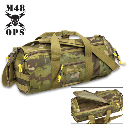 M48 Military-Style Duffel Bag - Camo