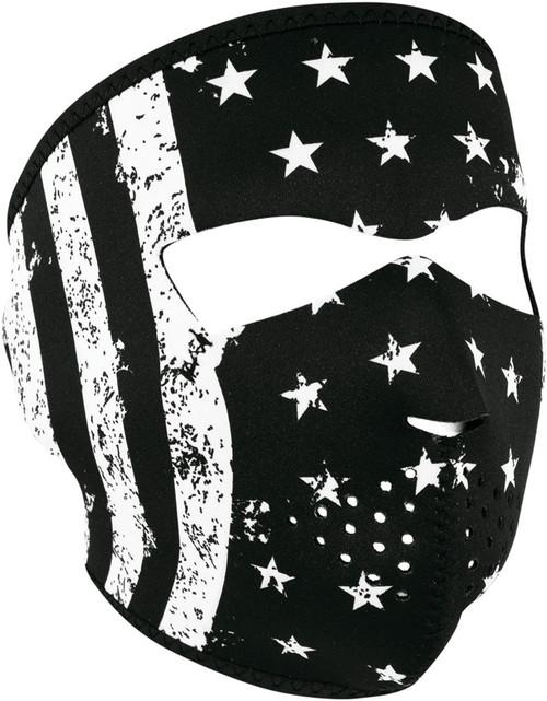 Full Face Mask BW Flag