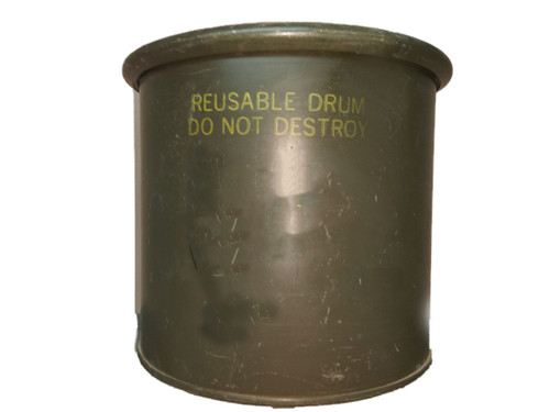 U.S. Armed Forces Small  Storage Drum