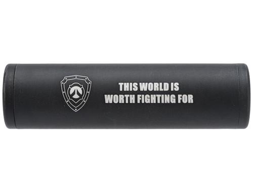 Matrix Airsoft Mock Silencer / Barrel Extension - 30 X 110mm - This World / Black