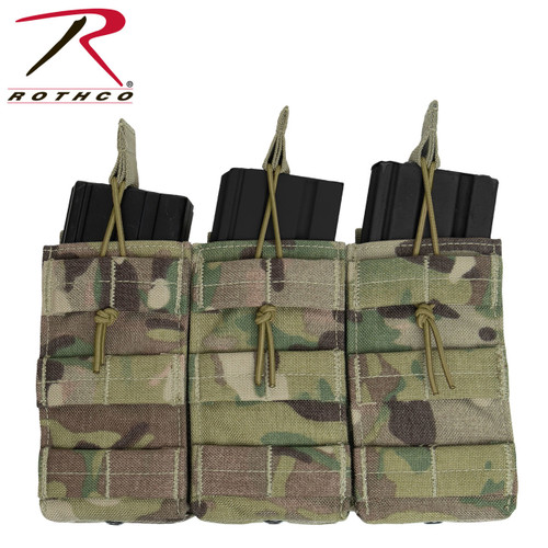 Rothco MOLLE Open Top Triple Mag Pouch - Multicam
